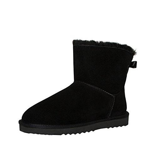 Scutari Suede Dames, Vrouwen Winter Laarzen   Warme Voering   Slip-laarzen Met Stevige Zolen   Lus Pailletten Glinsterende Ash Zwarte Schoenen 2