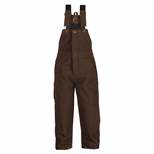 Barn Girl Overalls - Berne Boys' Bark Washed Insulated Bib Overalls Bark X-Large