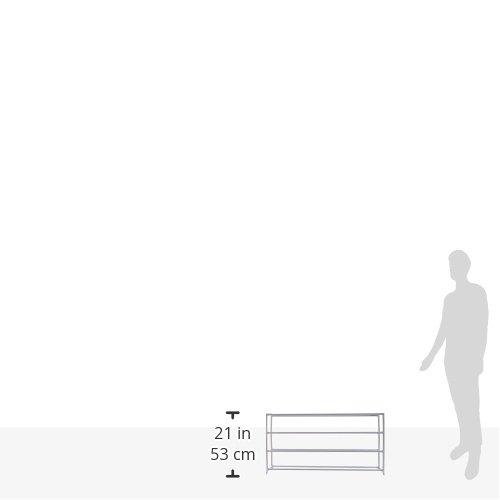 Whitmor 20-Pair Floor Shoe Stand, White