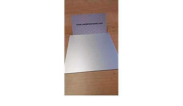 """.125 Clear Anodized Aluminum Plate Sheet Plate 6/"""" x 6/"""""""