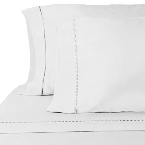 "ViscoSoft Grace Premium Microfiber Silver Sheet Set Queen - 16"" Deep Pockets - Embellished Lacing - 4-Piece"