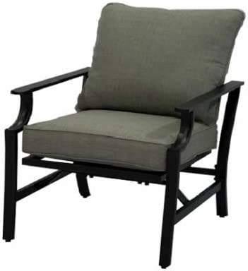 Four Seasons Courtya BCE01120H60 Evanston Deep-Seating Patio Rocker Chair, Dove Gray Olefin with Gray Steel - Quantity 4