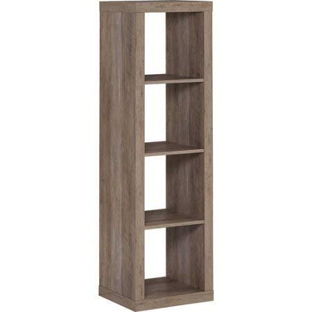 Horizontal/Vertical Multiple Storage 4 Cube Organizer in Rustic Gray (Cube Tower Storage)