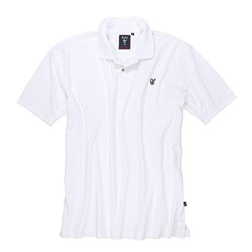 Stay Fresh' Poloshirt von hajo, weiß bis 5XL in Übergrößen