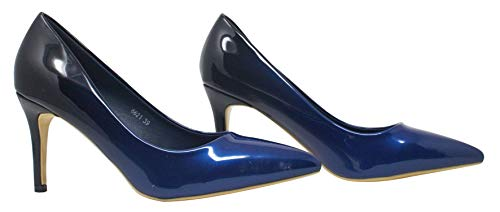 Cour Talon Fête Bleu nbsp;femmes 345678 Marine Taille Ombré Chaussures Diva Miss Faible 6621 YBqOOw