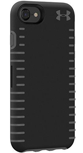 UNDER ARMOUR(アンダー?アーマー)グリップ ケース iPhone 6 / 6s / 7 / 8 ジャケット型ハードケース(ブラック x グレー) [並行輸入品]