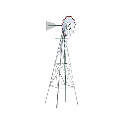 SMV Industries 8 ft. Windmill - Silver and Red