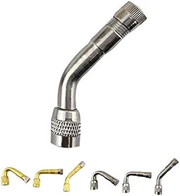 beIilan Universal 45 90 135 Grados de la v/álvula de la Motocicleta Extensor Auto del Coche de Metal doblado en /ángulo v/álvula del Adaptador del Tubo de neum/ático extensi/ón del suplemento del