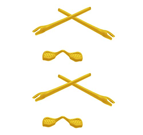 2 Pair Yellow Replacement Earsocks & Nosepieces Kits for Oakley Radar EV - Nosepiece Yellow