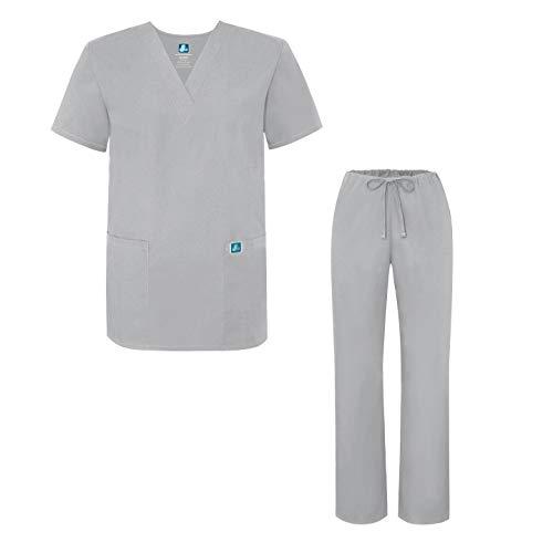 (Adar Universal Medical Scrubs Set Medical Uniforms - Unisex Fit - 701 - SLV - XL Silver)