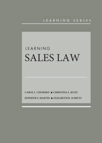 Learning Sales Law (Learning Series)