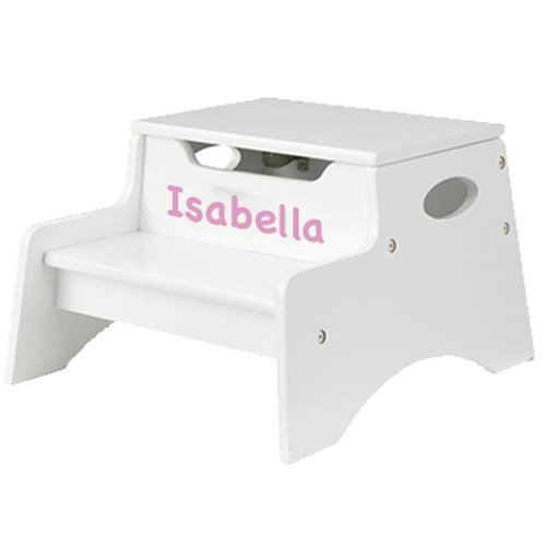 KidKraft Personalized Child Stool, Color: White, Name: Madison (Personalized Color Stool Step)