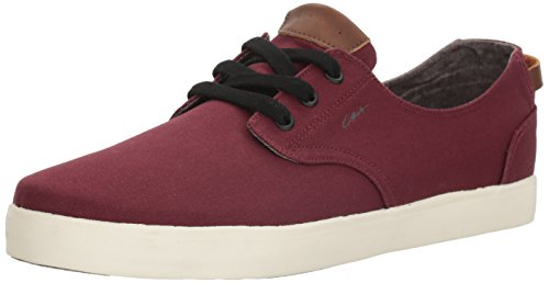 C1RCA Men's Harvey Low Profile Lightweight Insole Skate Skateboarding Shoe, Maroon/Gray, 9 M US