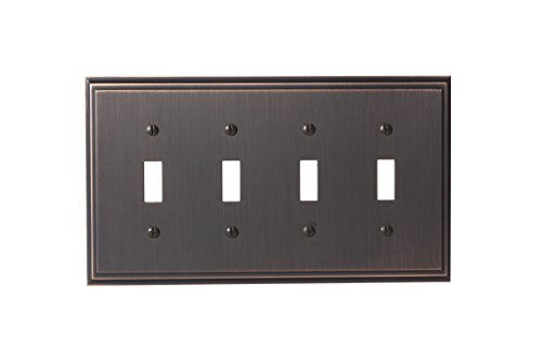 Amerock BP36517ORB Mulholland 4 Toggle Wall Plate - Oil-Rubbed Bronze