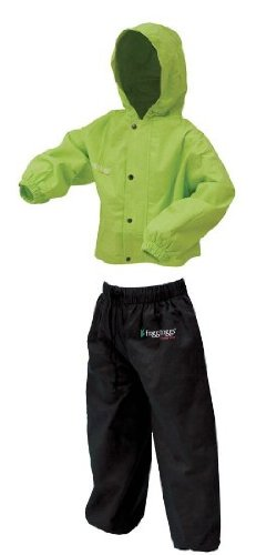 Frogg Toggs PW6032-148LG Polly Woggs Youth Rain Suit, Hivis Green (Kids Rain Gear compare prices)