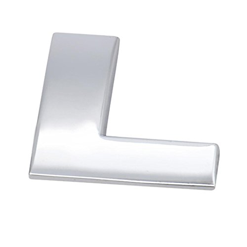 Kstare 3D Metallic Alphabet Car Sticker - Match Your Lucky Letters Or Words (A-Z) - Emblem Letter Silver Badge Decal By (Silver, - Letter D Words 3