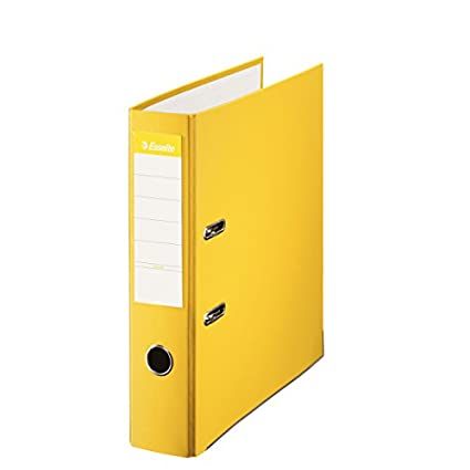 Esselte 804829 - Archivador de palanca Din A4, lomo 75 mm, color Amarillo