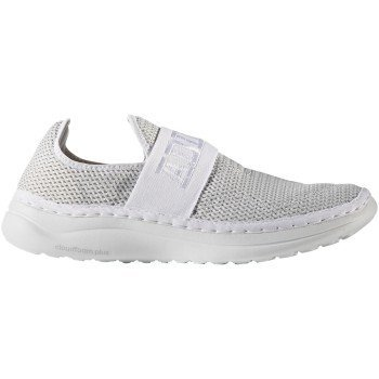 adidas Cloudfoam Plus Zen Recovery Shoe 9 White-Clear Grey