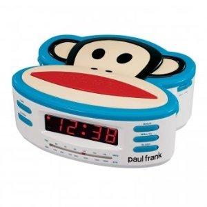 Paul Frank PF250 Single Alarm, AM/FM Clock Radio with Battery - Paul Frank Clock