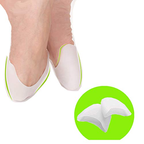 Toe Pads Ballet Pointe Shoes Dance Ballet Flats Toe Cushions for Shoe Gel Toe Covers Dance Pads Feet Ballet Accessories for Women Girls Metatarsal Forefoot Pads - Prevent Calluses and Blisters (Best Pointe Shoes For High Arches)