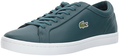 Lacoste Lace Sneakers (Lacoste Women's Straightset LACE 317 3 Fashion Sneaker, Green, 8.5 M US)