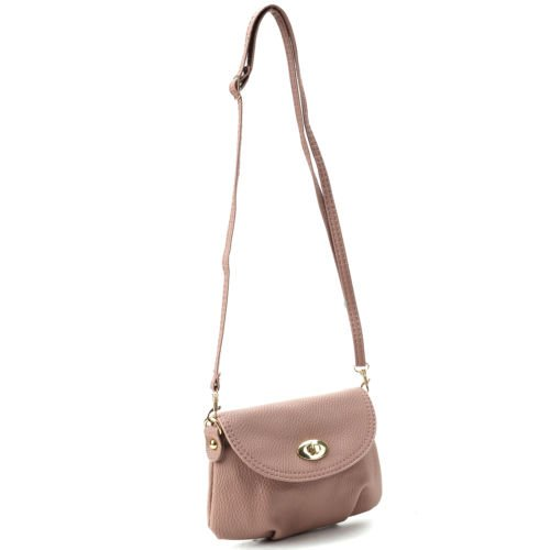 The Pecan Man Pink Crossbody Shoulder Small Satchel Leather Handbag Messenger Totes ()