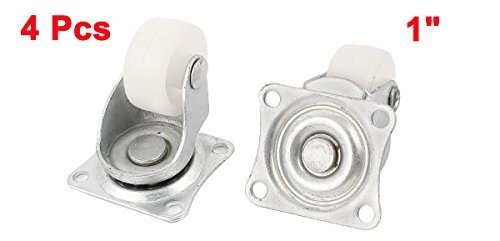 Muebles de la carretilla carros 1 25mm 4pcs PP rueda giratoria Placa Superior Caster: Amazon.com: Industrial & Scientific