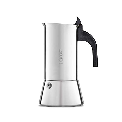 (Bialetti Elegance Venus Induction 10 Cup Stainless Steel Espresso Maker)
