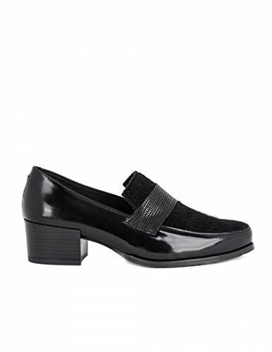 NATURE Mocasines Tacón Piel Potro - Color - Negro, Talla Zapatos Mujer - 40: Amazon.es: Zapatos y complementos