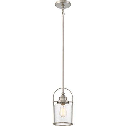 1 Light Transitional Pendant - Quoizel QPP2781BN Payson Mini Pendant Ceiling Lighting, 1-Light, 100 Watt, Brushed Nickel (12