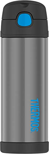 Thermos Stainless Steel FUNtainer Bottle, Charcoal, 1 ea