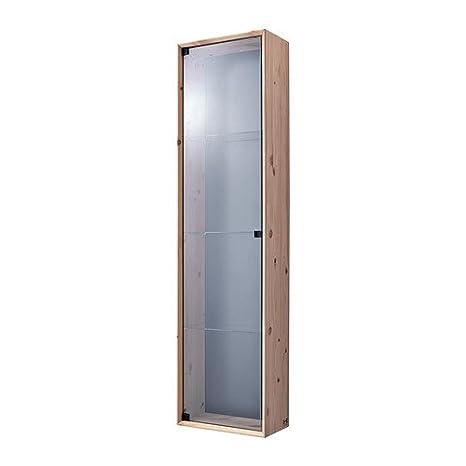 Ikea Nornas - Glass-Door Armario de Pared, Pino - 37 x 143 cm: Amazon.es: Hogar