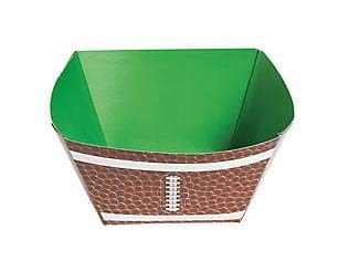 Football Superbowl Party Bowl, Touchdown Snack Bowls, 3 inches x 3 inches x 4 inches, Set of ()