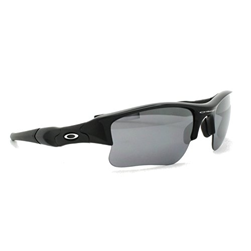 Oakley Flak Jacket XLJ Jet Black w/Blk Iridium 03-915 + Free SD Glasses+Cleaning - Iridium Flak Oakley Jacket Black
