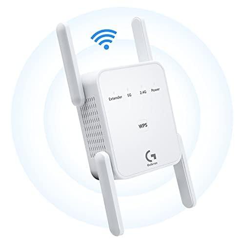chollos oferta descuentos barato Repetidor WiFi 1200Mbps Amplificador Señal WiFi Banda Dual 2 4GHz y 5GHz Extensor de Red WiFi con puerto Ethernet WPS Modo AP repetidor enrutador cliente compatible con todos los enrutadores