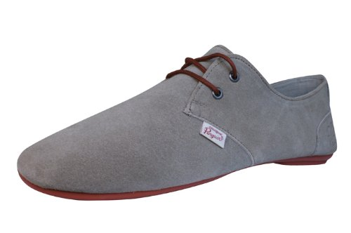 Penguin Fossil Mens Leather Suede Casual Shoes-Grey-10 (Penguins Upper Deck)
