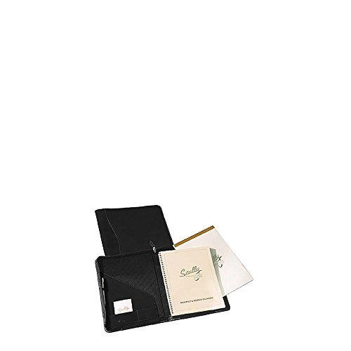 Scully Nappa Leather Zip Planner and Letter Pad (Black) by Scully