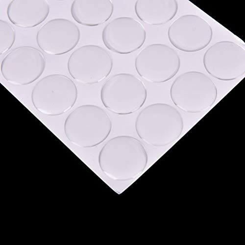(Laliva 100pcs/sheet 25mm Clear Epoxy Stickers Round Dome 3D Crystal Resin Self Adhesive Patch Dots Label for Bottle Caps Crafting)