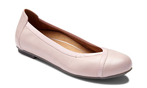 Vionic Women's Spark Caroll Ballet Flat - Ladies Dress Casual Shoes with Concealed Orthotic Arch Support Light Pink 9 M US