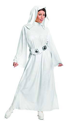Rubie's Costume Women's Star Wars Classic Deluxe Princess Leia Costume,White,Large ()