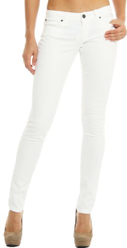Hey Collection Juniors Brushed Stretch Twill Skinny Jeans X Small White,X-Small,White