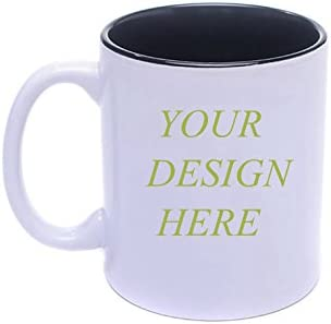 Diy Personalized Coffee Mug Add Pictures Logo Or Text To Custom Mugs Cups For Gift Black White