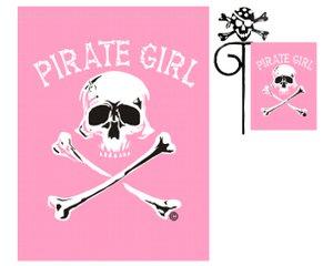 PIRATE GIRL GARDEN FLAG 12 X 18 (Girl Flag Pirate)