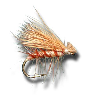- Elk Hair Caddis (Tan) Fly Fishing Fly - Size 12 - 6 Pack