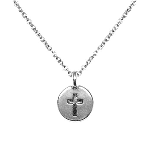 oss Charm Necklace (18 Inches) (Satin Round Charm)