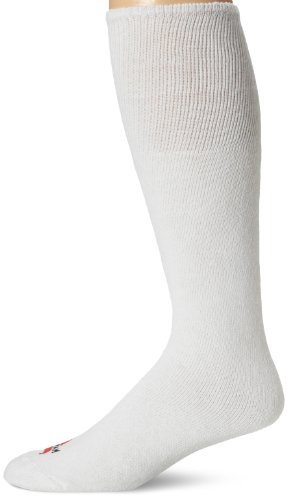 Wigwam Men's King Tube Knee High Classic Sport Sock, White, Sock Size:10-13/Shoe Size: 6-12