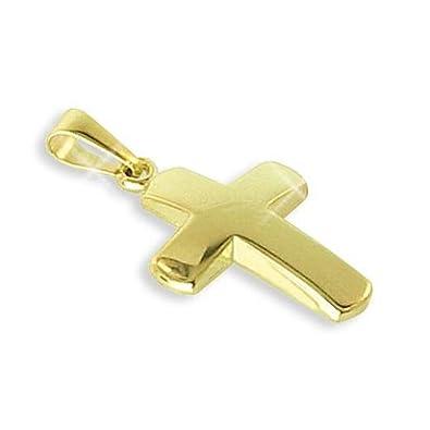 Kreuz Anhänger echt 14 Karat Gold 585 27mm (Art. 203161) GRATIS-SOFORT-GRAVUR
