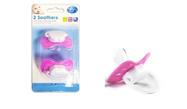 First Steps Soothers /& Dummies for Baby with Cherry silicone Teats,pink