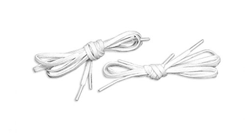 Tylastic Shoelaces (White, 36''L x 5/16''W Latex Free) by Tylastic