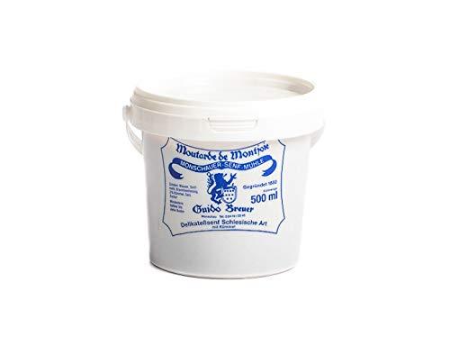 Schlesische Art mit Kümmel – Monschauer Senf – Moutarde de Montjoie – 500 ml Mosterd Silezische stijl met karwij